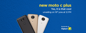 Moto C Plus to be launched in India on June 19 exclusively via Flipkart