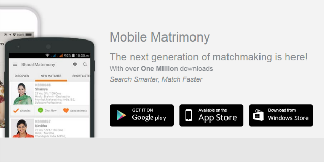 BharatMatrimony is now on windows smartphone