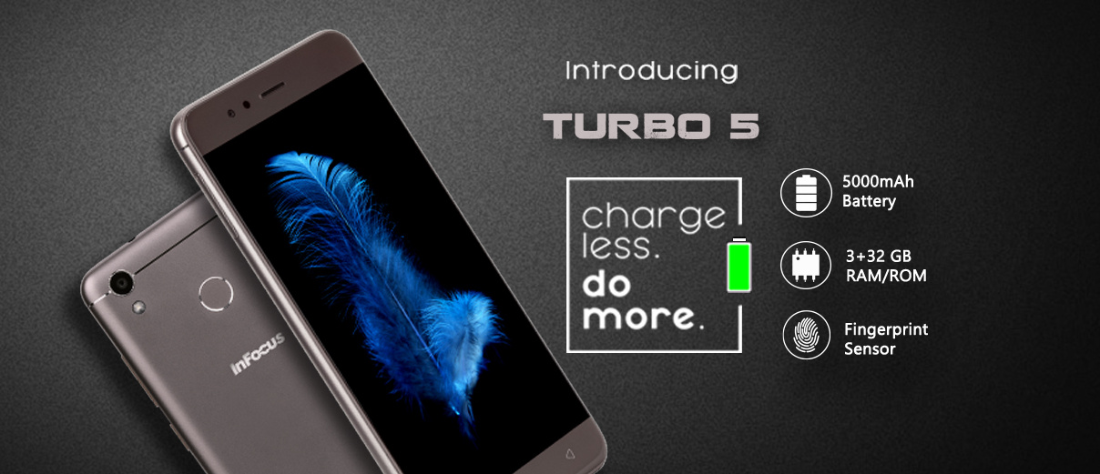 InFocus launches Turbo 5 with a massive 5000mAh battery for Rs 6,999