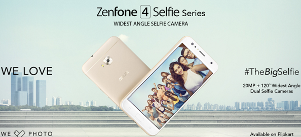 purchase cheap e6d9d edf47 Asus Zenfone 4 Selfie series available for sale via Flipkart from ...