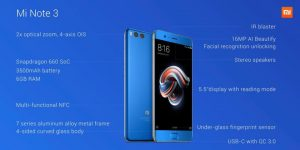 Xiaomi unveils Mi Note 3 with 6 GB of RAM and dual camera setup