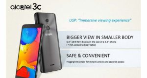 Alcatel 3C with 6-inch HD+ bezel-less display launched
