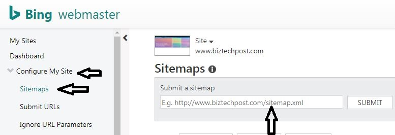 Step 3. Submit a Sitemap