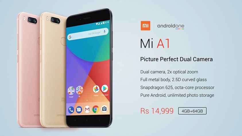 Xiaomi launches first android one device Mi-A1 in India