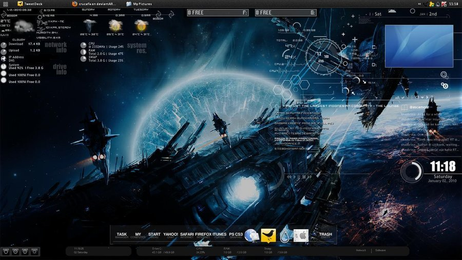 best rainmeter skins