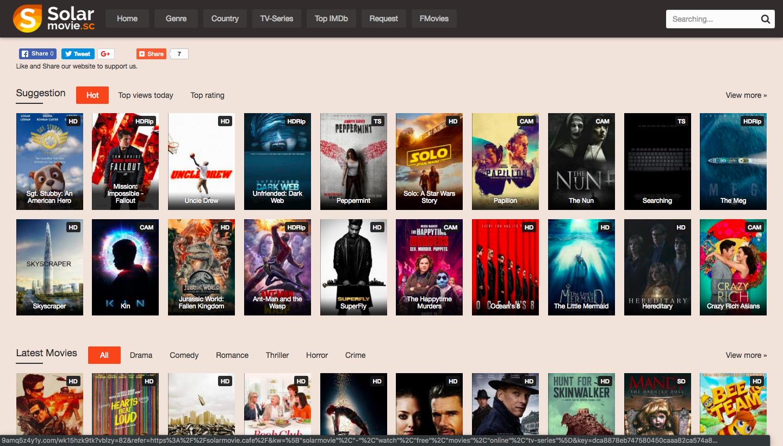 SolarMovie Unblocked proxy