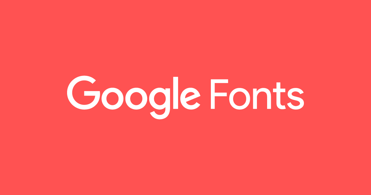 Free download from google fonts