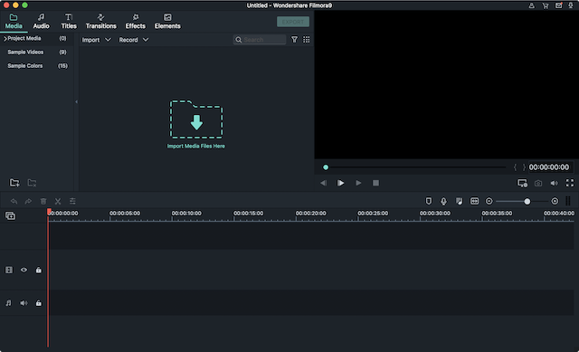 Filmora 9 video editing interface