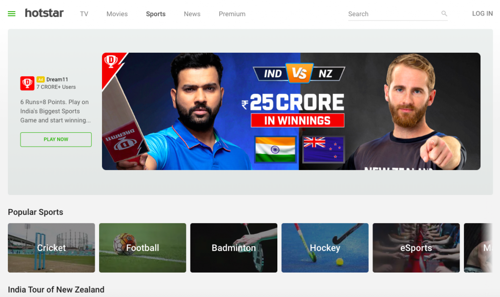 You can also watch the high-resolution video which is an added incentive on HotStar