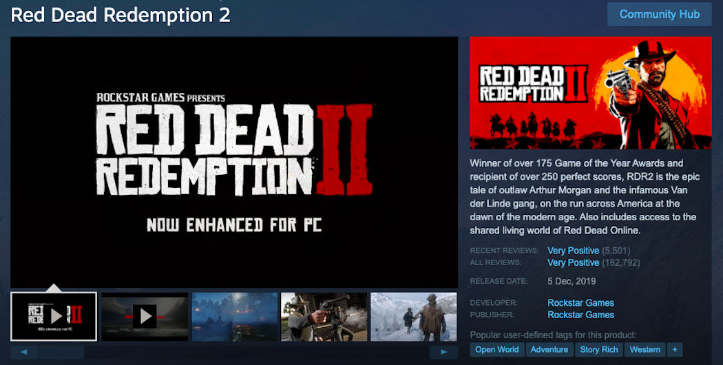 How to Download Red Dead Redemption 2 via Steam?